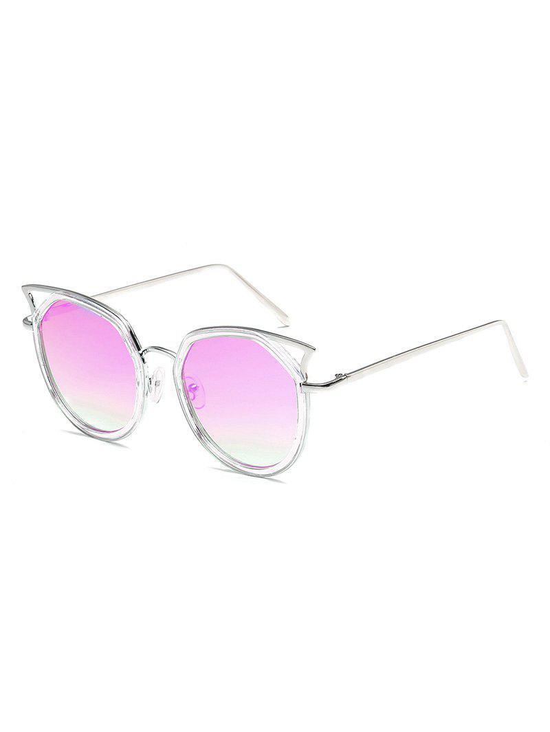 Outfits Statement Hollow Out Metal Frame Catty Sunglasses