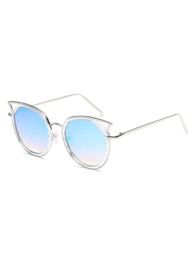 Best Statement Hollow Out Metal Frame Catty Sunglasses