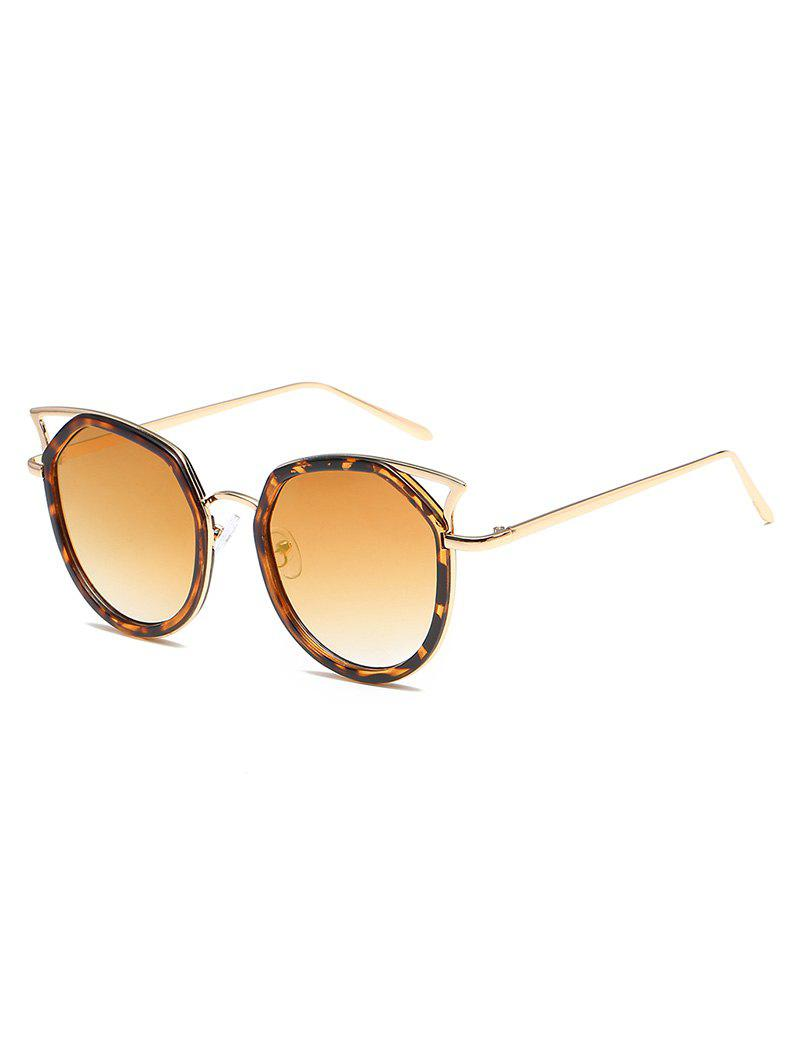 New Statement Hollow Out Metal Frame Catty Sunglasses