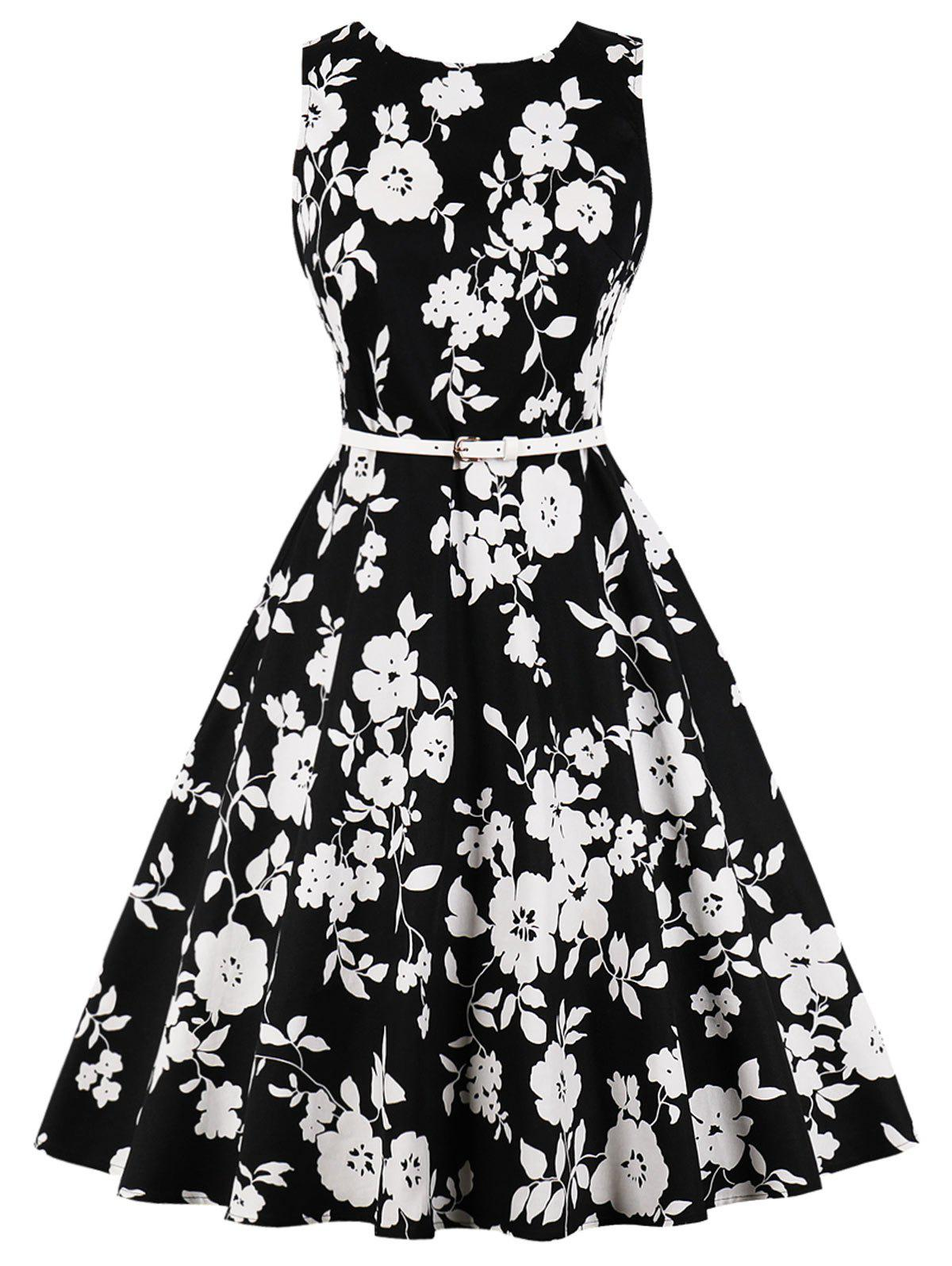 Buy Retro Floral Swing Dress