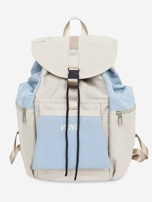 Cheap Casual Color Block School Backpack