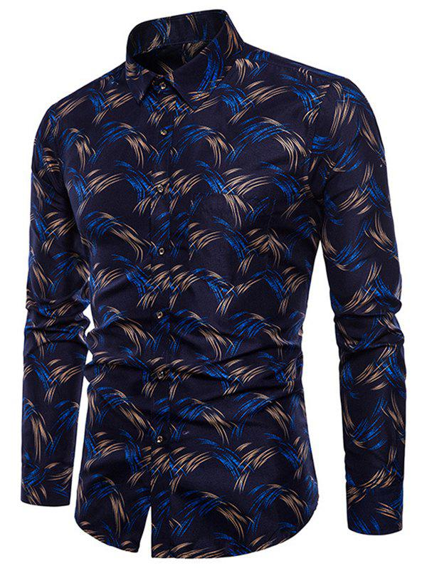 Fancy Allover Printed Button Up Shirt