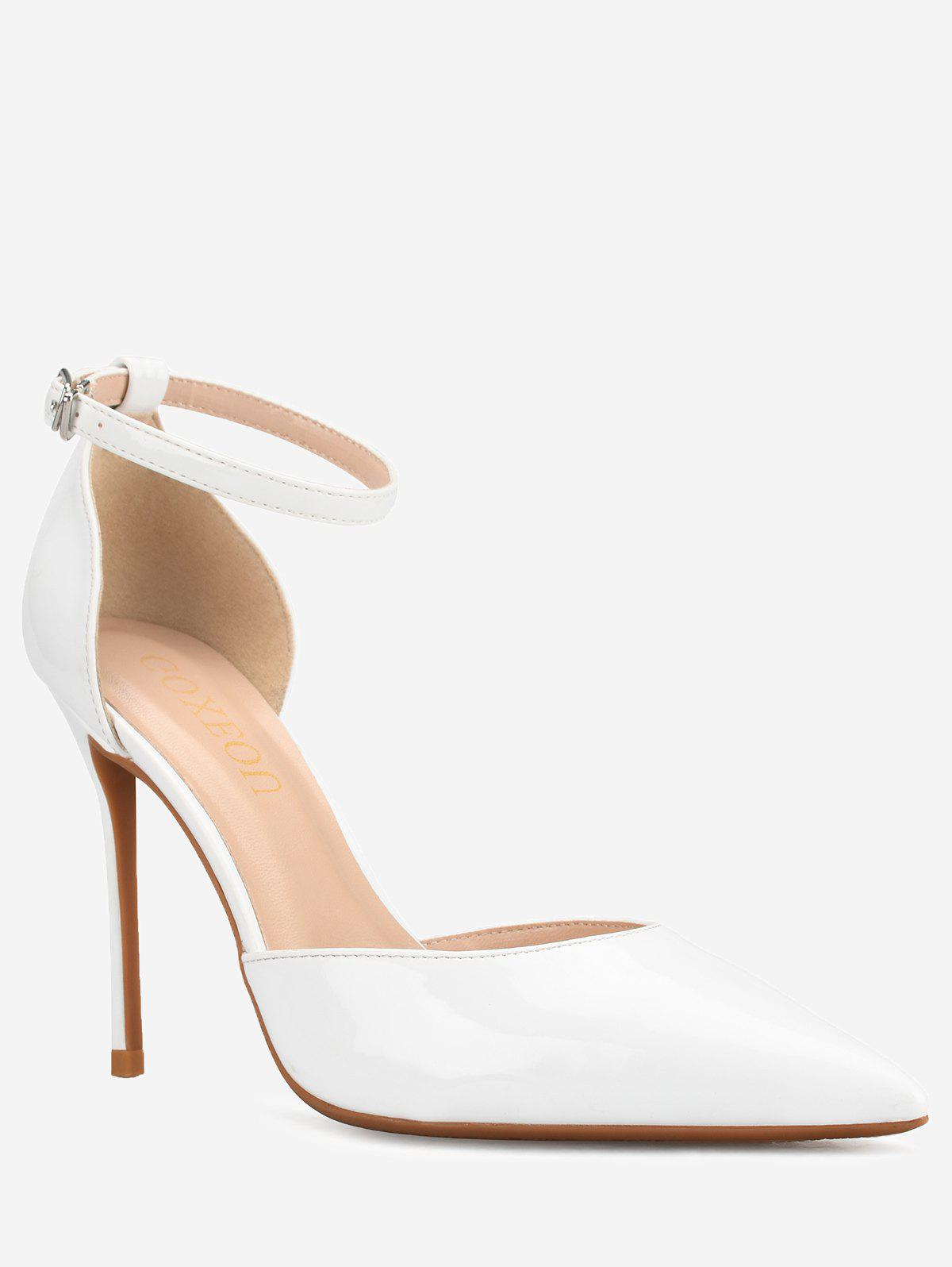 Online GOXEOU Pointed Toe Stiletto Heel Prom Pumps