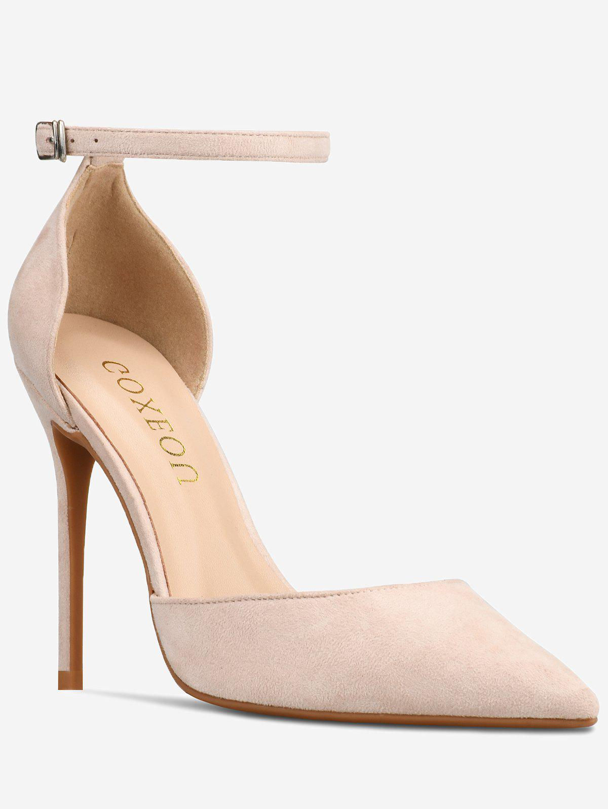 Outfits GOXEOU Ankle Strap High Heel Going Out Pumps