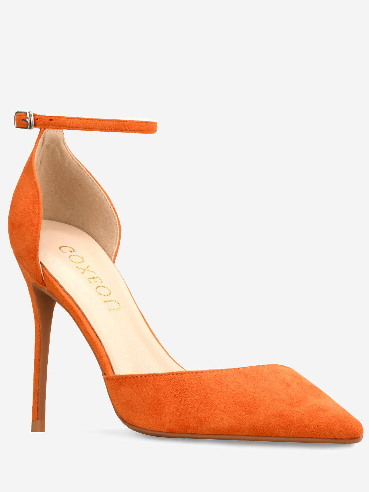 Fancy GOXEOU Ankle Strap High Heel Going Out Pumps