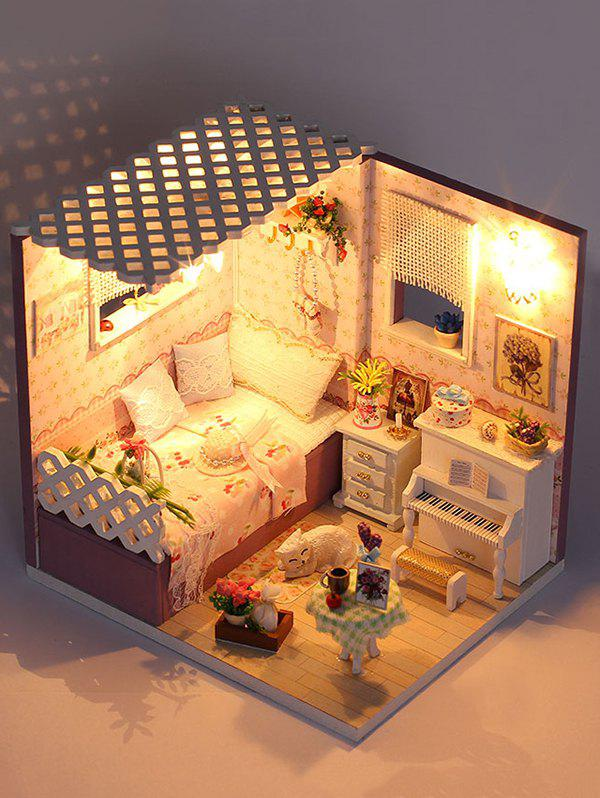 Outfits DIY Wooden Light Dollhouse Miniature