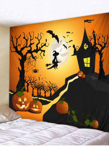 38 wall hanging art halloween moon castle print tapestry