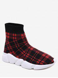 Bottes à talon bas Plaid Leisure -