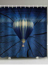 Hot Air Balloon Print Waterproof Bathroom Shower Curtain -
