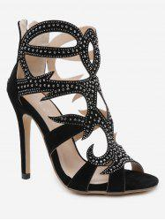 Rhinestone Stiletto Heel Sandals -