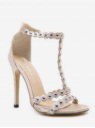 Studded High Heel Fashion Sandals -
