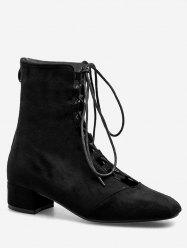 Lace Up Chic Going Out Ankle Boots -