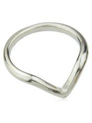 Minimalist V Shaped Thin Ring -