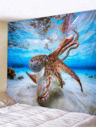 Wall Hanging Art Octopus Print Tapestry -