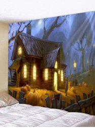 Wall Hanging Art Halloween House Print Tapestry -