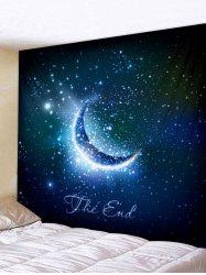 Wall Hanging Art Crescent Starry Sky Print Tapestry -