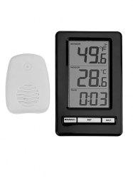 Wireless Indoor Outdoor Desktop Clock Thermometer -