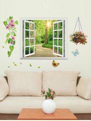 Shadeway Window Print Removable Wall Sticker -