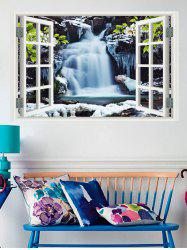 Waterfalls Window Print Removable Wall Sticker -