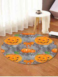 Halloween Pumpkin Pattern Anti-skid Round Floor Rug -