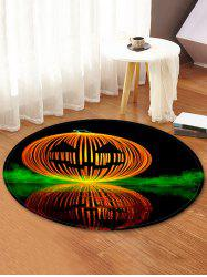 Halloween Pumpkin Lamp Pattern Anti-skid Round Floor Rug -