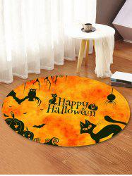 Halloween Animals Pattern Anti-skid Round Floor Rug -