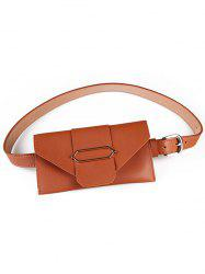 Fanny Pack Faux Leather Phone Card Belt Bag -