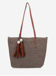 Tassels Decoration Travel Sling Bag -