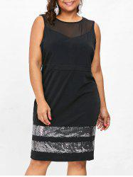 Plus Size Sleeveless Pencil Dress -