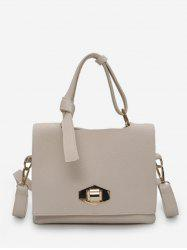 Minimalist Faux Leather Leisure Handbag -