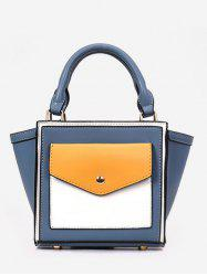 Color Block Wing Shaped Tote Bag with Strap -