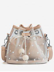 String Shoulder Bag With Wood Ball -