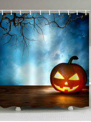 Halloween Pumpkin Waterproof Bathroom Shower Curtain -