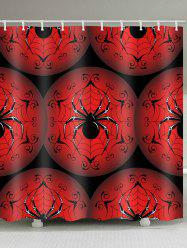 Spider Print Waterproof Bathroom Shower Curtain -
