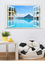 Lake Sky Window Printed Removable Wall Sticker -