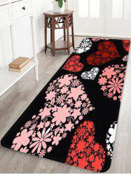 Love Heart Flower Print Soft Area Rug -
