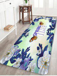 Butterfly Flower Printed Soft Anti-skid Area Rug -