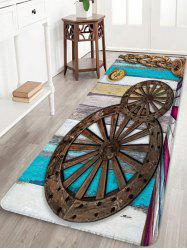 Vintage Gear Printed Soft Anti-skid Area Rug -
