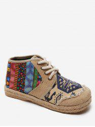 High Top Fisherman Lace Up Loafers Shoes -