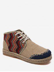 Flat Heel Espadrilles High Top Leisure Shoes -