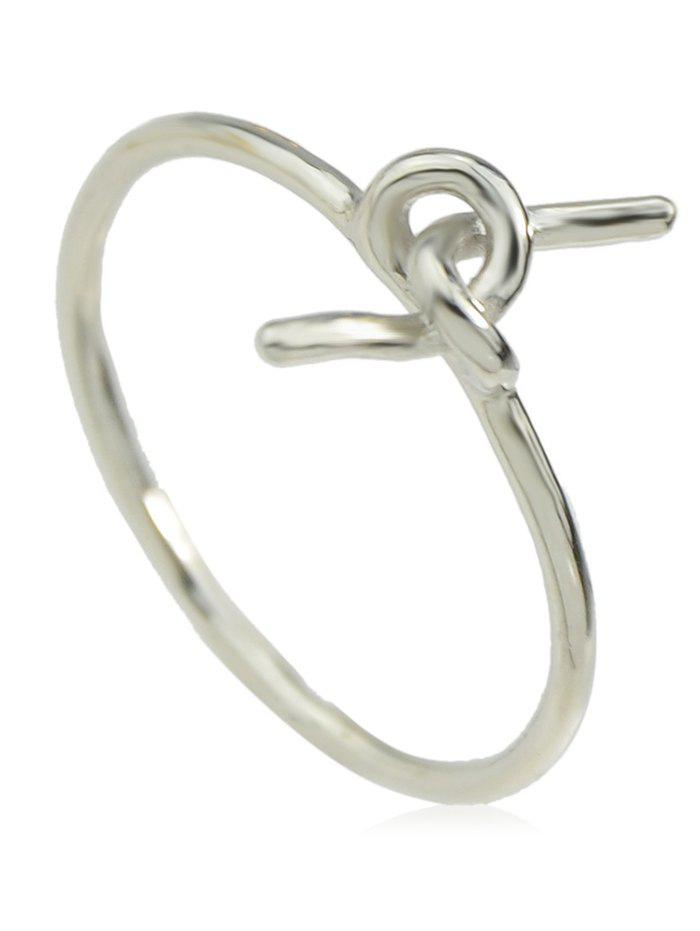 Online Alloy Knotted Finger Ring