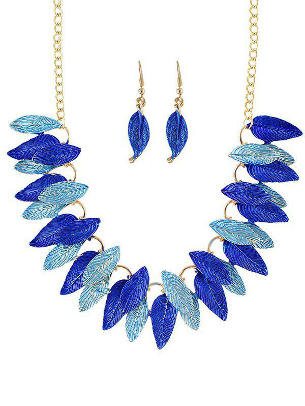 Buy Leaves Decoration Chain Necklace Earrings Set