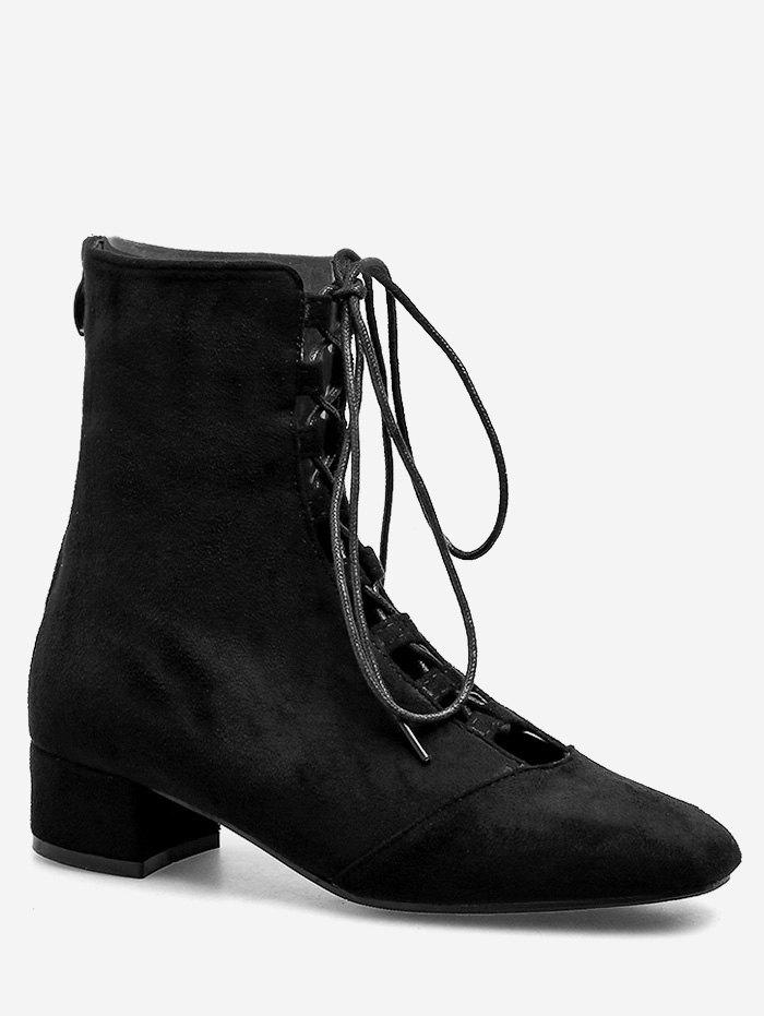 Unique Lace Up Chic Going Out Ankle Boots