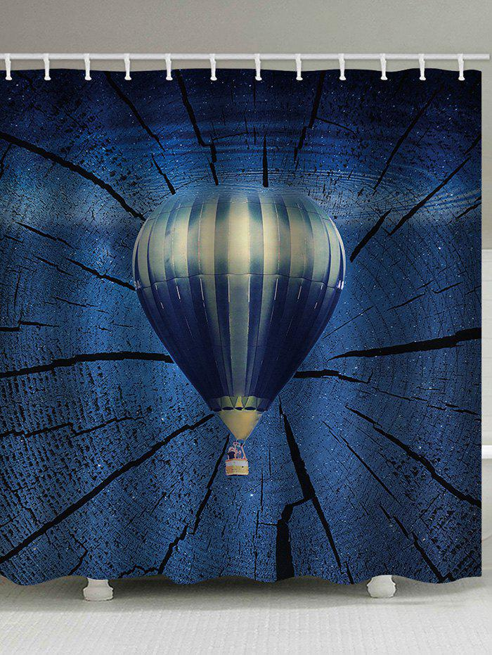 Fashion Hot Air Balloon Print Waterproof Bathroom Shower Curtain