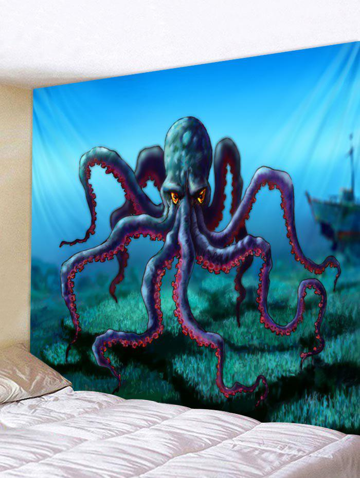 Best Wall Hanging Art Cartoon Octopus Print Tapestry