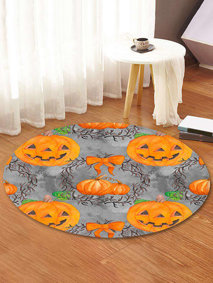 Latest Halloween Pumpkin Pattern Anti-skid Round Floor Rug