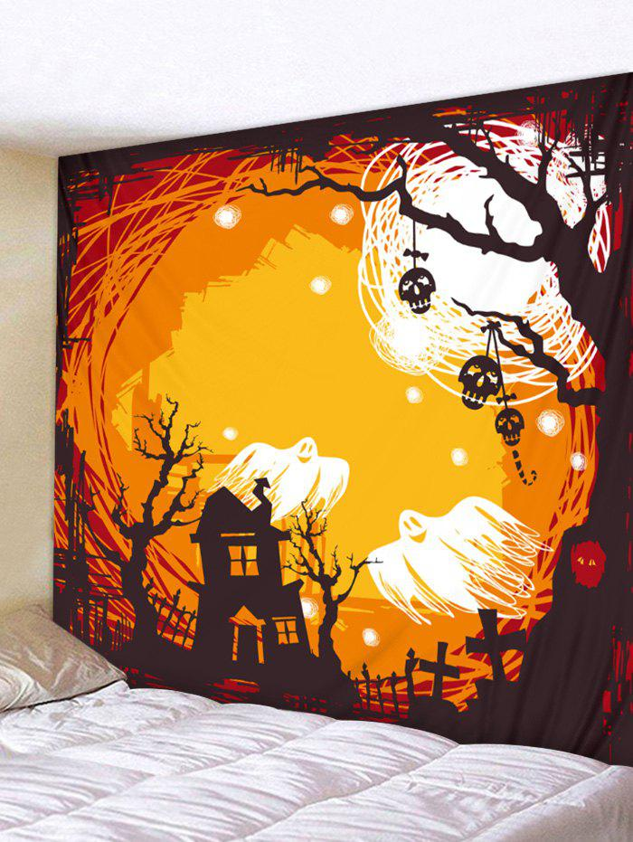 Discount Wall Hanging Art Halloween Ghost Print Tapestry