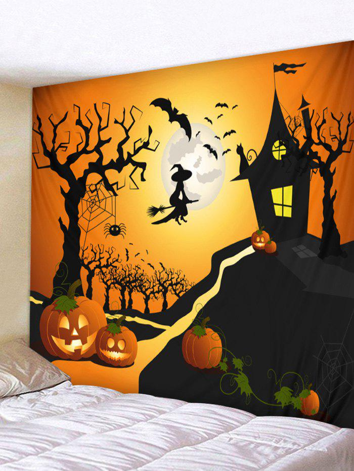 Fashion Wall Hanging Art Halloween Moon Castle Print Tapestry