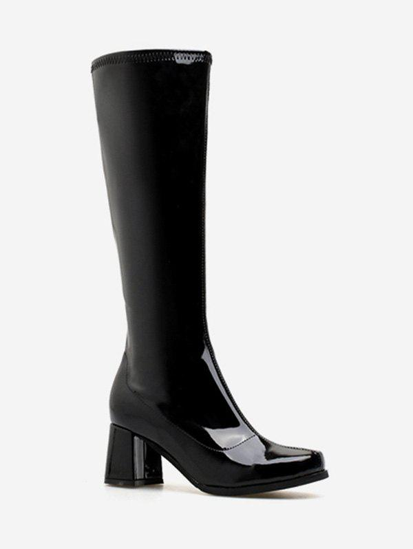 Discount Going Out Block Heel Mid Calf Boots