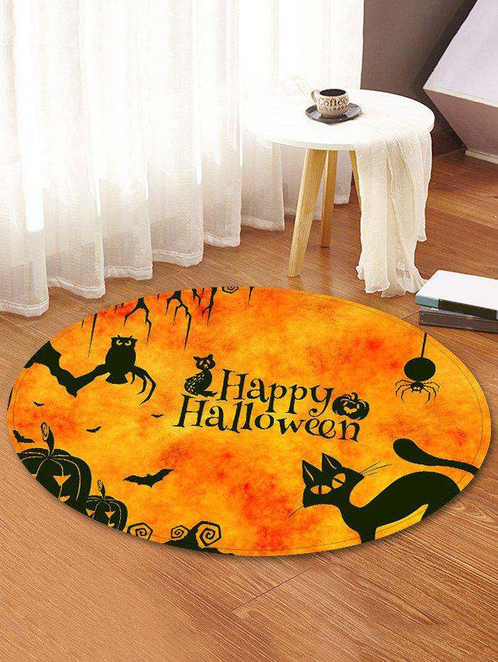 Latest Halloween Animals Pattern Anti-skid Round Floor Rug